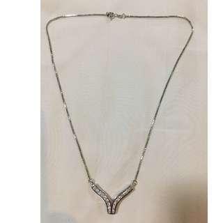 Silver Necklace Cubic Zirconia