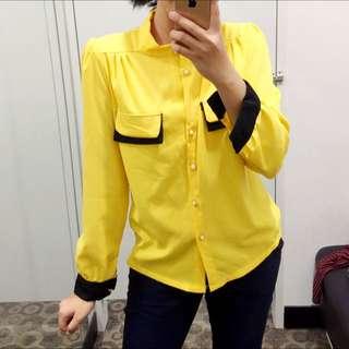 Formal Yellow Top