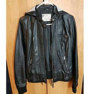 Garage Leather Bomber