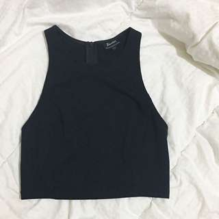 Bardot Crop - Black