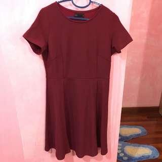 Padini Basic Maroon Dress