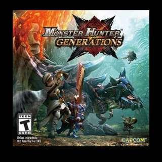 WTT / WTS Monster Hunter Generations For Xenoblade Chronicles