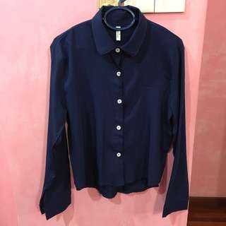 Navy Cropped Top