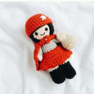 Crochet little red riding hood