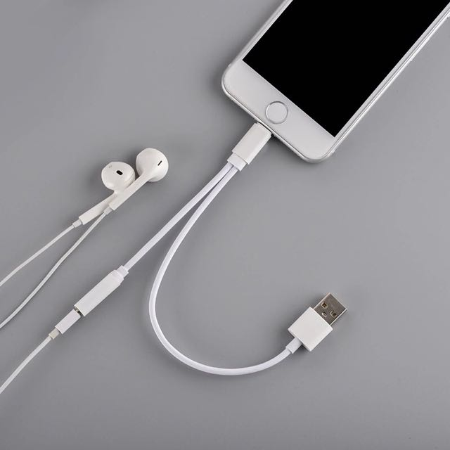 timeless design e0684 ddccd 2 in 1 Converter Lighting Cable For iPhone 7 or 7Plus Charging Adapter to  3.5mm Audio Interface Headphone Jack Connector USB Charger