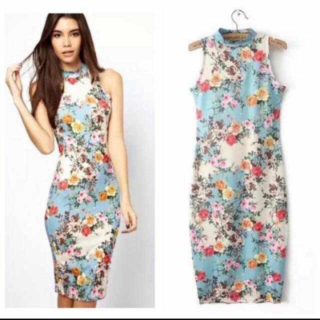 3d Floral Miky cotton dress