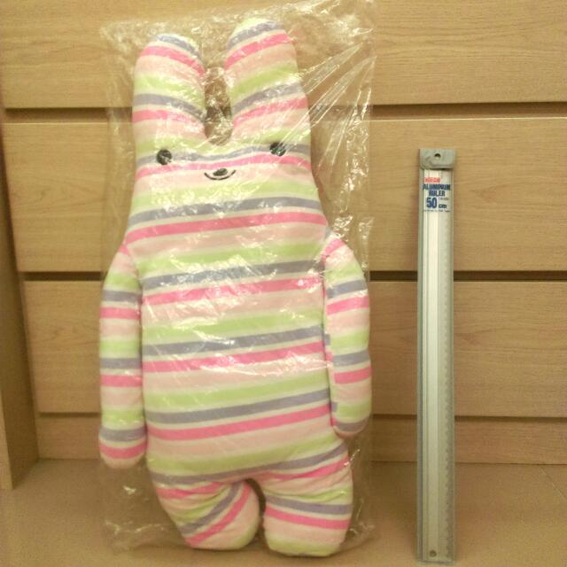 60cm 彩色條紋/彩條/兔娃娃/兔子娃娃/兔玩偶/兔子玩偶