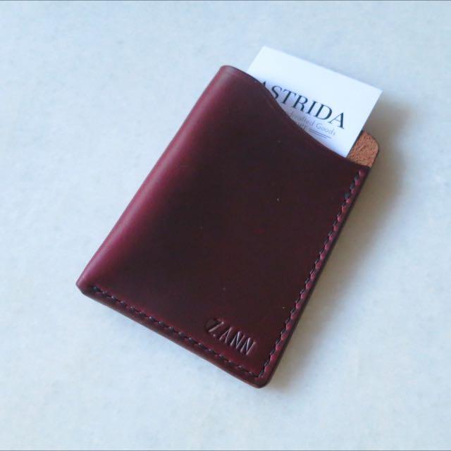 《Handcrafted   Handmade - 1 Pocket Leather Cardholder • Minimalist Wallet》