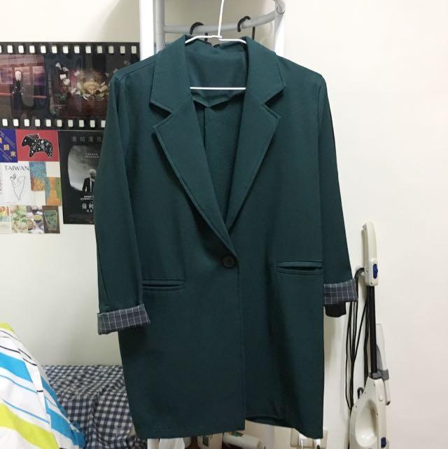 墨綠 西裝外套