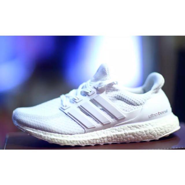 size 40 38851 aa20f Adidas Ultra Boost 2.0 Triple White
