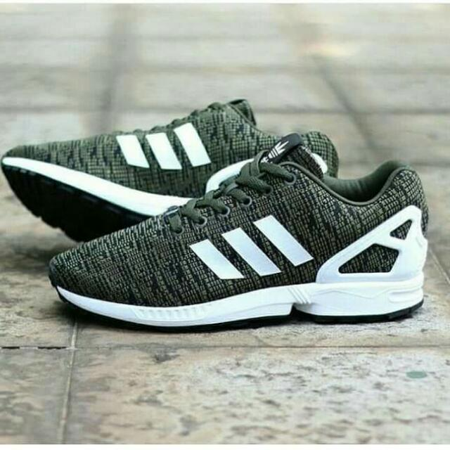 62db857a8 Word find Adidas Zx Flux Weave Camo Green Army