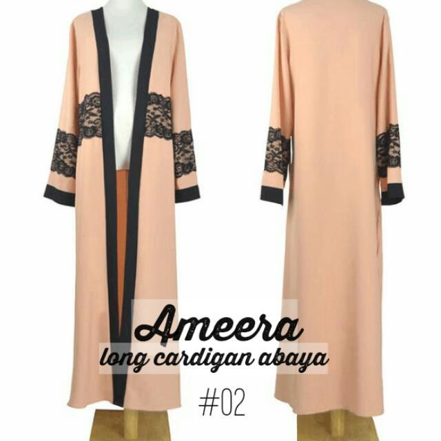 f93f7685d2bf Ameera #02 Long Cardigan Abaya, Women's Fashion, Muslimah Fashion on ...
