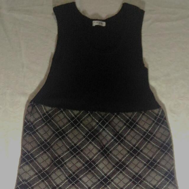 Blach Checkerds Dress