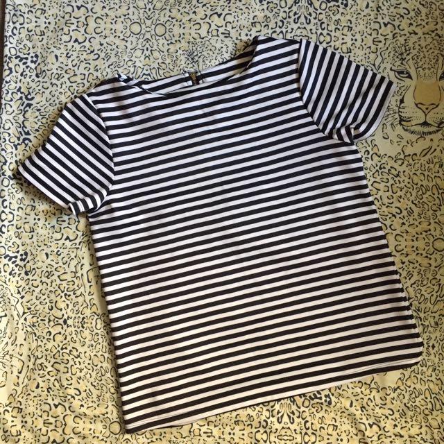 Black&white stripes Top