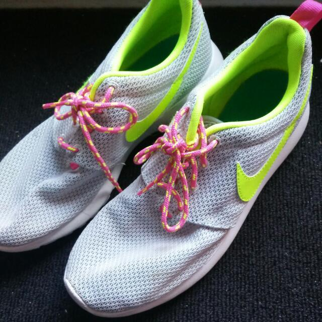 Blue & Neon Yellow Nike