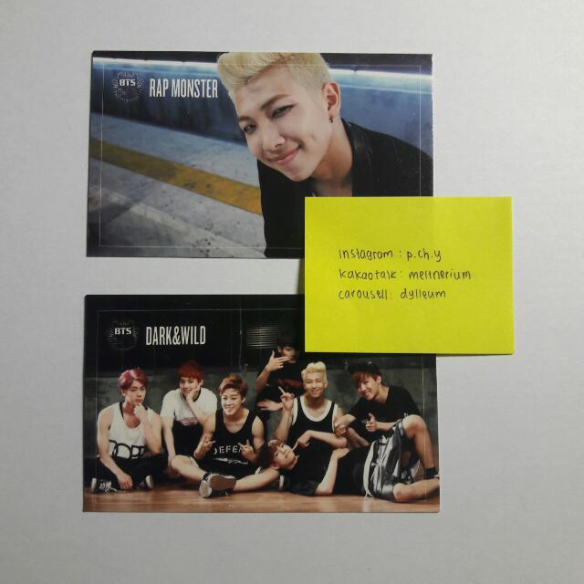 BTS Dark&Wild Photocard (Rap Monster and Group)