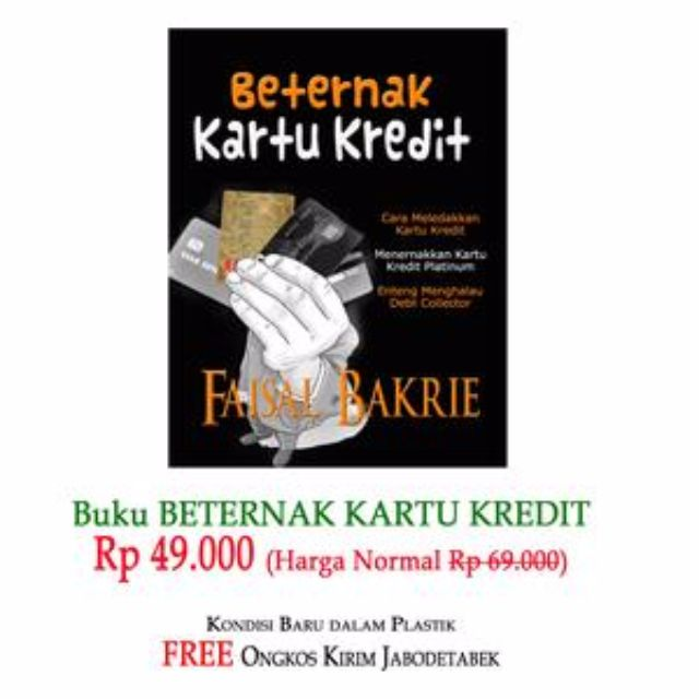 Buku Beternak Kartu Kredit anti debt collector