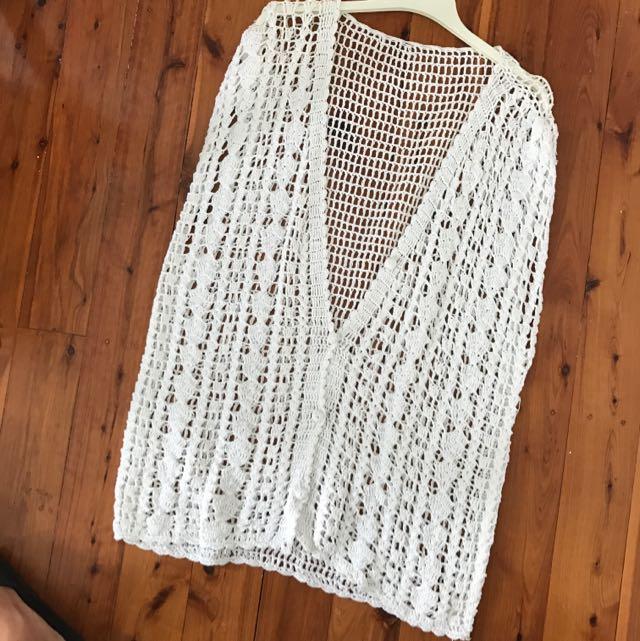 Byron Bay Crochet Dress Overthrow