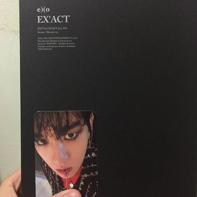 Exo  專輯+伯賢小卡