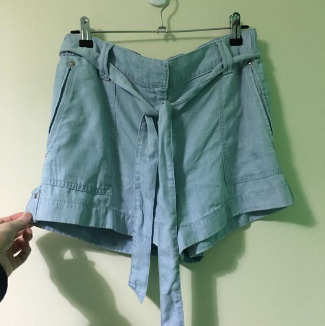 Forever New Denim Tie Shorts