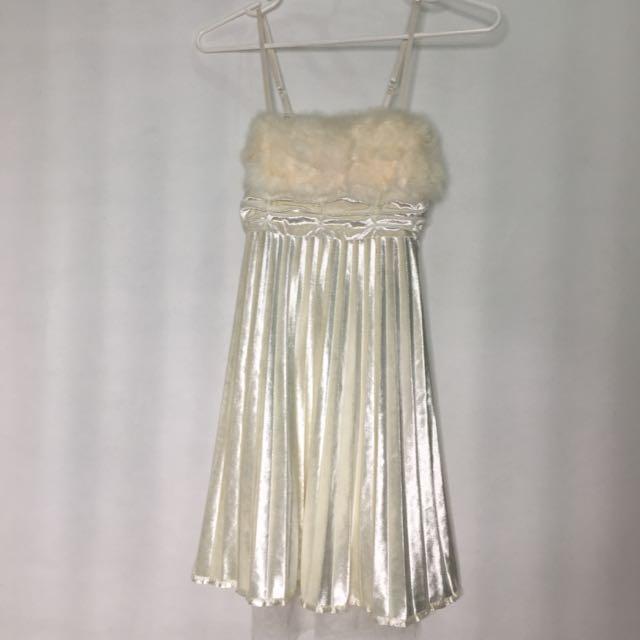 Furr mini dress
