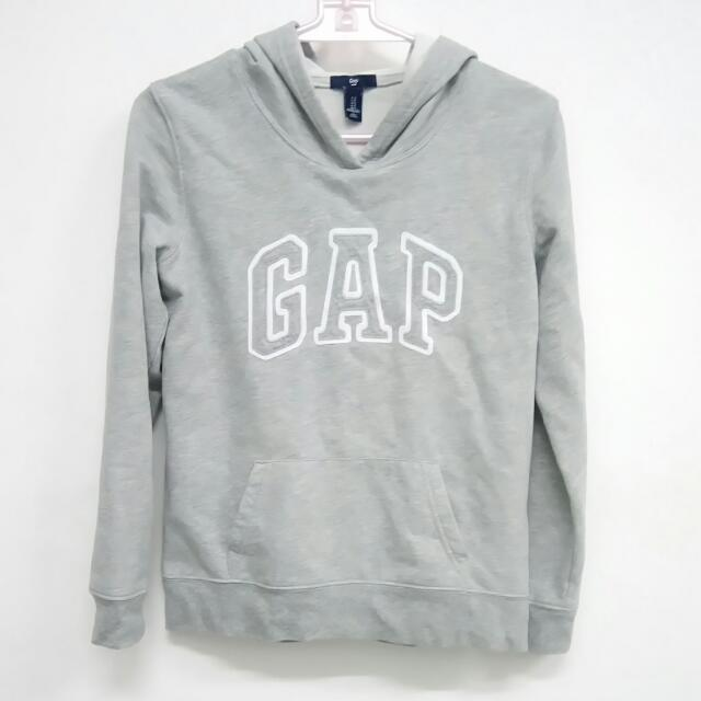 GAP 經典大logo 刷毛 帽t 黑灰兩色 都s