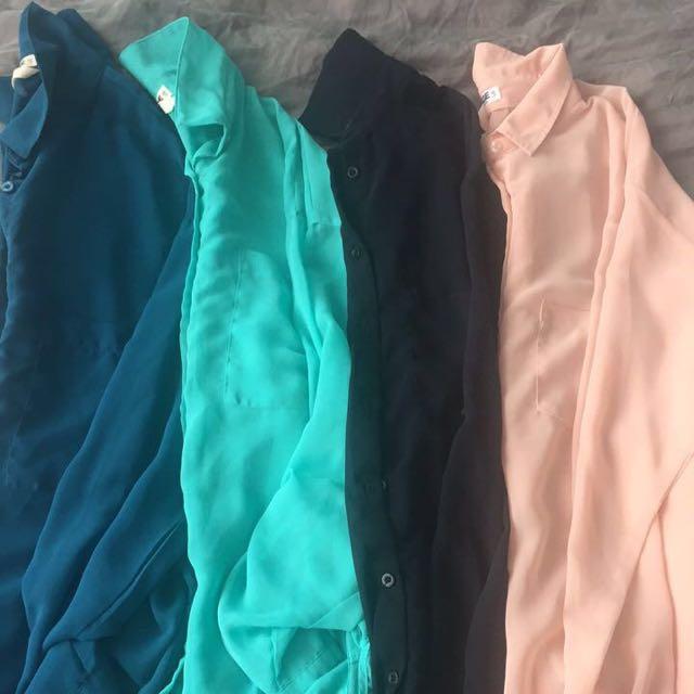 Garage See-through Dress Shirts