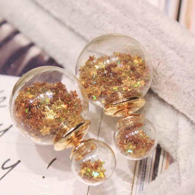 Gold Wishing Bottle Earrings
