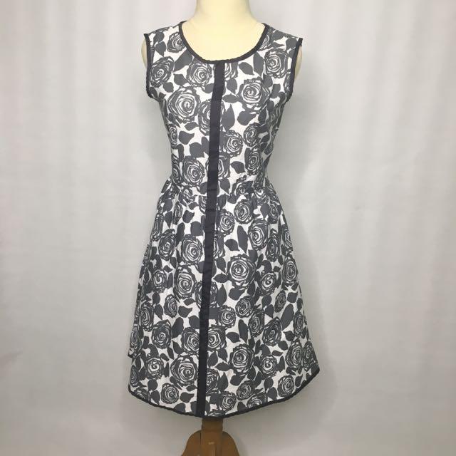 grey floral dress