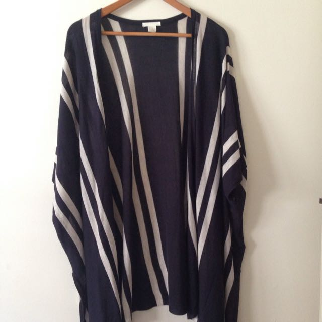 H&M striped bat-wing cardigan