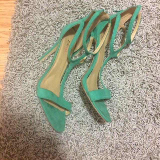 JustFab Turquoise Heels