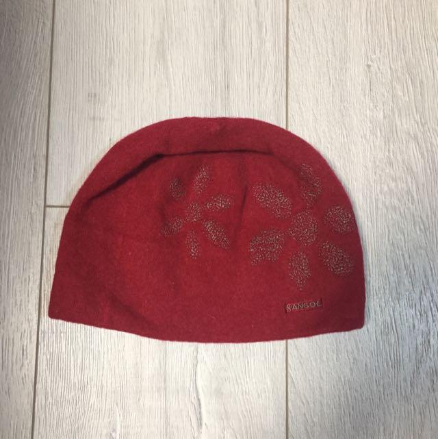KANGOL 毛帽(紅色 正貨)