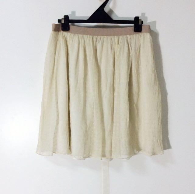 La Feta 純絲材質立體雪紡紗裙 雪紡紗  雪紗裙 立體 小花 純絲 絲質