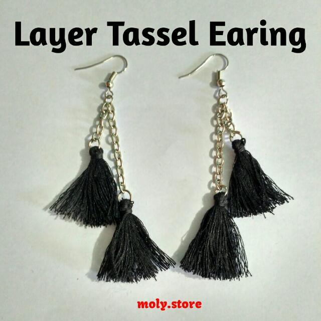 Layer Tassel Earing
