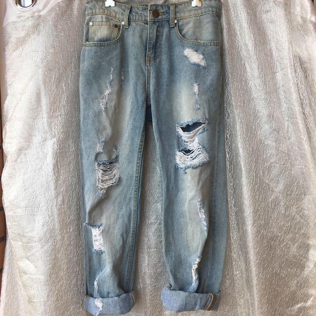 Living Doll Boyfriend Jeans / 8