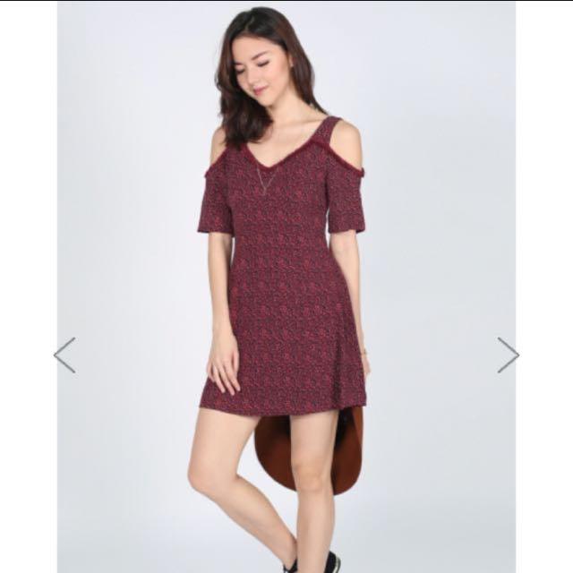 Love Bonito Diona Printed Cutout Shoulder Dress Size Xl