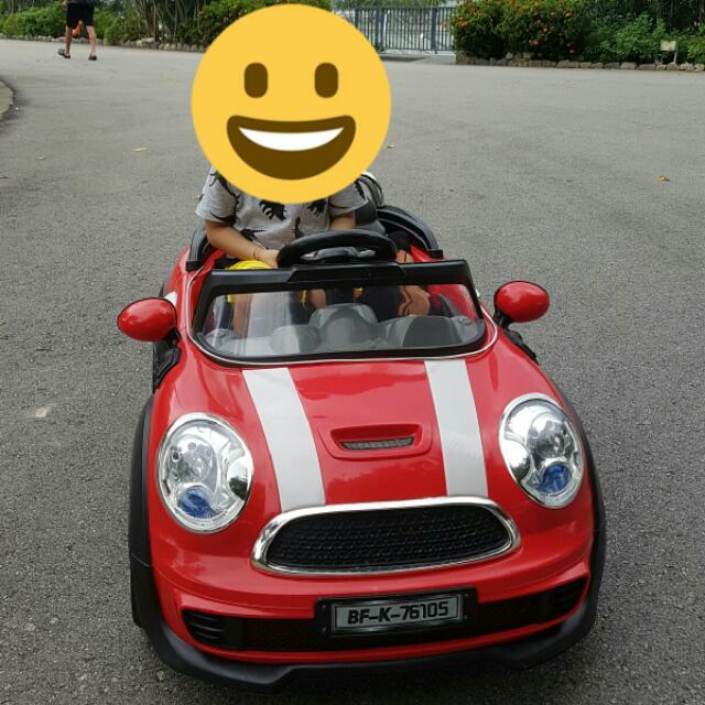 Mini Cooper Electric Car For Kids Toys Games Bricks Figurines