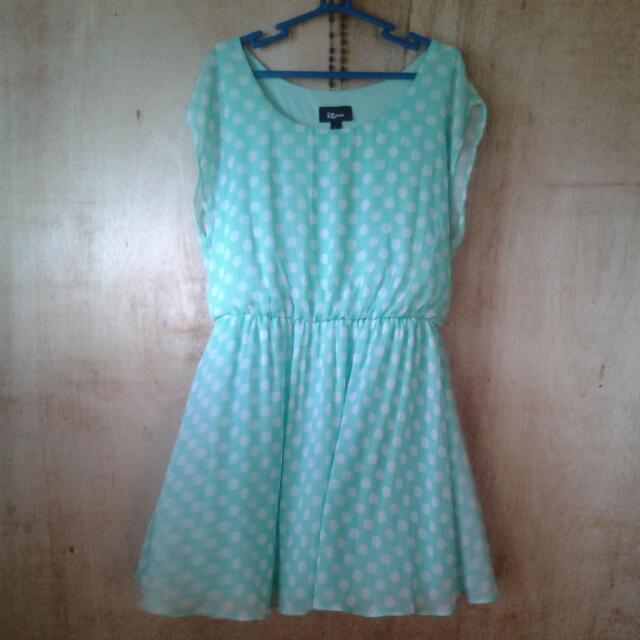 Mint Green Dotted Dress