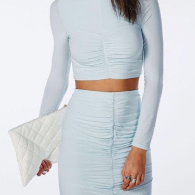 MISSGUIDED baby Blue Set