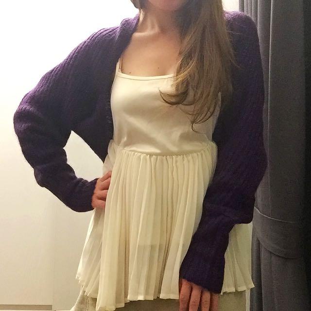 義大利Nadine 針織2-way圍巾小外套