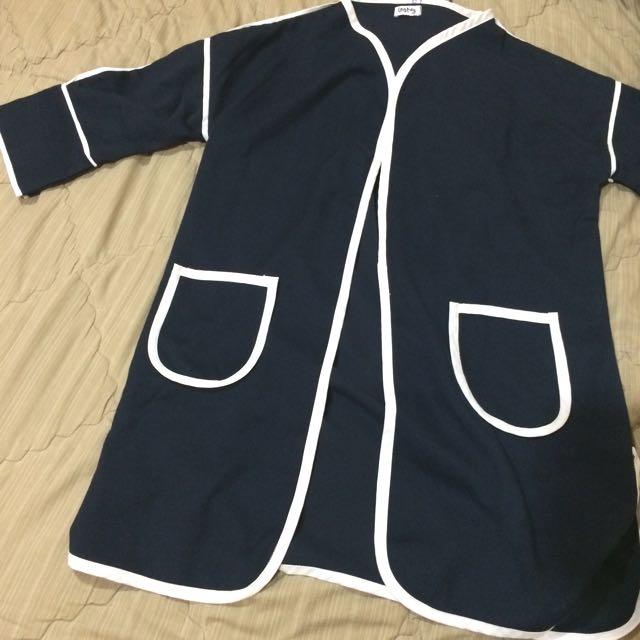 Navy Blue Kimono Outer