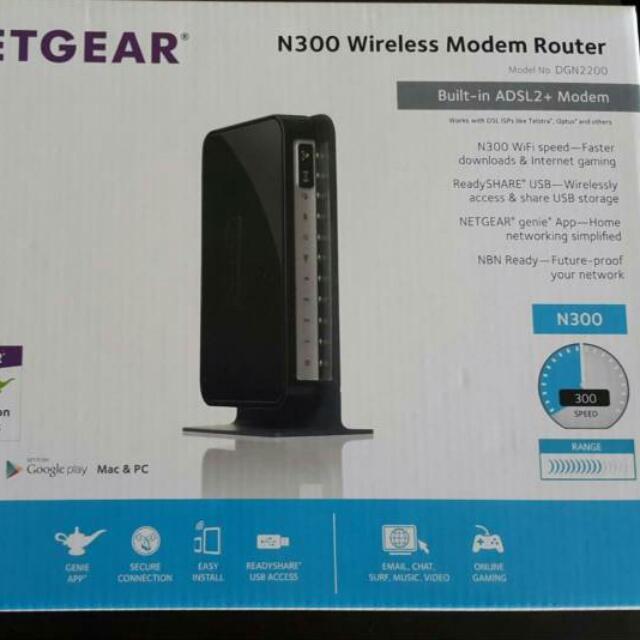 New Netgear N300 Wireless Modem Router