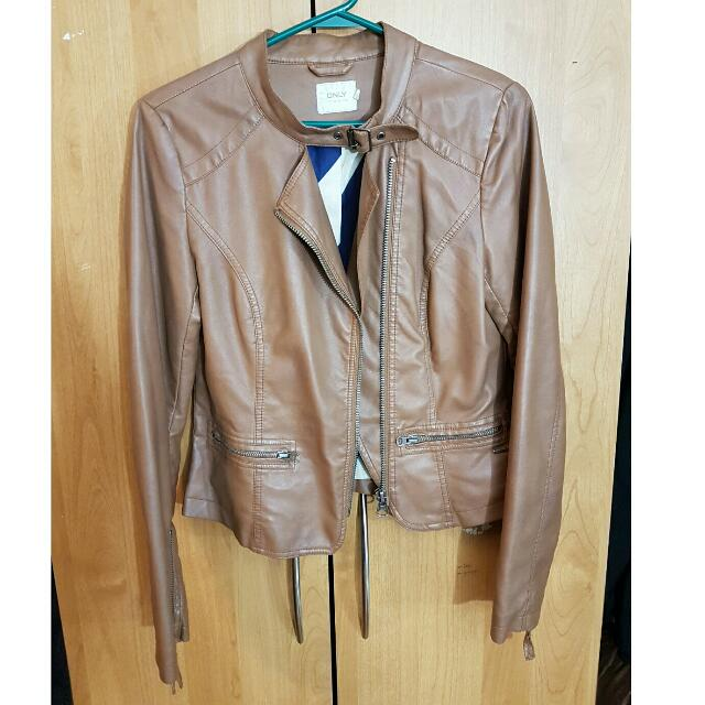 ONLY Leather Bomber