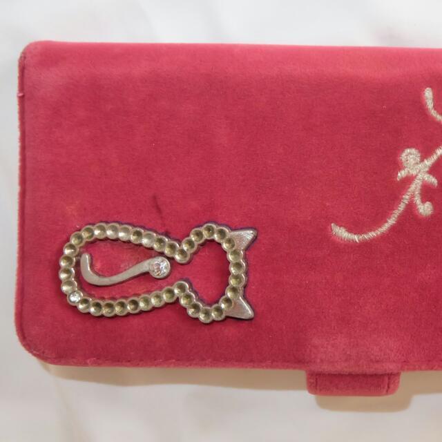 Pink Kitty Cat Long Wallet
