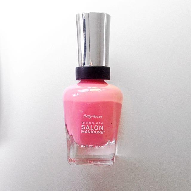 Pink Sally Hansen Nail Polish