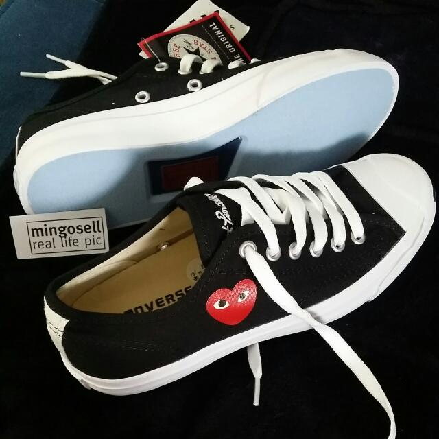 converse jack purcell x comme des garcons play