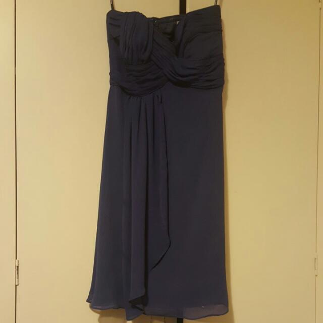 Principals Navy blue strapless dress