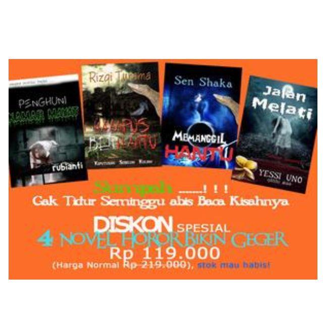 Promo Bundling 4 Buku Novel Horor Bikin Geger Anak Sekolahan Jakarta