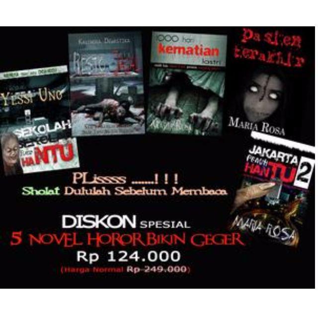 Promo Bundling 5 Buku Novel Horor Bikin Geger Anak Sekolahan Jakarta