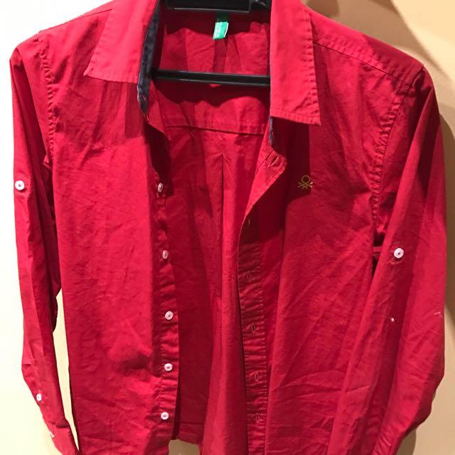 Red Benetton Shirt
